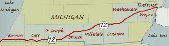 Us 12 Michigan Map.Michigan S Longest Garage Sale